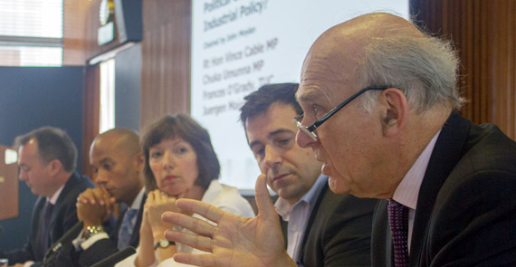 The panel at the Industrial Strength Britain seminar